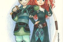 Mulan and Merida