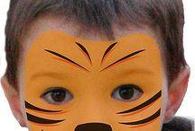 Tigergesicht schminken