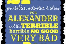 "Alexander and the Terrible, Horrible Book, Printables, Lessons / Coloring pages, printables, lessons, worksheets and more based on the book ""Alexander and the Terrible, Horrible No Good Very Bad Day"" #books #lessons #worksheets #homeschool #teachers #free"