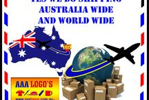 Australia and world wide - AAA LOGOS / We ship right across Australia and also World Wide.  Unique affordable products.  http://www.aaalogos.com.au