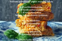 Cookbook ~ Sormiruokailu ja perheruokailu