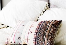 handmade folk pillows