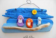 penguins on stick