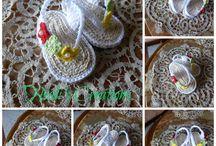 shoes crochet, scarpette uncinetto / scarpette fatte a mano per bambini
