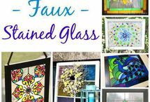 Faux Stained Glass