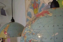 Maps Room inspiration. / Guest room project