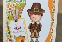 Cards_Thanks Giving / Thanks Giving theme cards made using Whimsie Doodles digital stamps