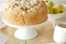 Apple cake Irish and custard