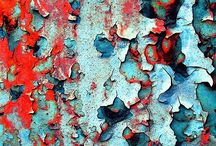 "Unintended beauty / Peeling paint, rust, tree bark and many other examples of ""unintended beauty""."