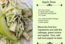 Salads / glutenfree, dairyfree, sugarfree