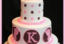Baby shower torty