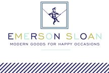 Emerson Sloan Modern Goods / Modern party supply and toy store located at 2414 Rice Blvd. Houston, Texas, 77005. / by Emerson Sloan