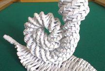 Pletení z papíru - zvířátka