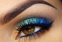 Inspired By Blue / Blue is a symbol of peace and tranquilty. Fing everything #blue - #eyeshadow #nails and so on