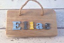 Children's Name Plaques / Children's door plaques and hangers