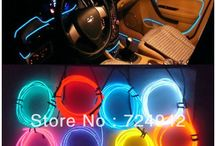 neon light interior car