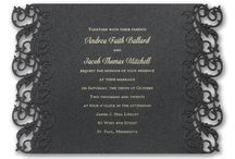 Black Invitations / Elegant and chic black invitations for every style of wedding. All available at Persnickety Invitation Studio.