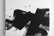 Abstract black&white / Abstract paintings, black&white