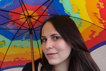 Silk Lyli - handmade - umbrellas / Malované hedvábí, silk painting e-shop: www.mojehedvabi.cz