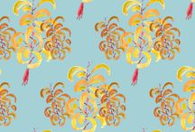 Patterns / Surface decoration inspired by Matteo Thun´s watercolours and his vision of nature.