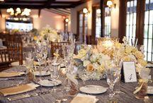 Silvergrey & peach cream wedding