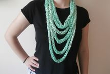 jewelry / Learn more from https://www.etsy.com/listing/399143117/hand-made-yarn-necklace?ref=shop_home_active_5
