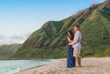 Hawaii Wedding and Engagement Photography Ideas / Oahu, Hawaii wedding, engagement, vow renewal ideas