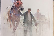 Josef zbukvic / I like his beautiful and sensitive paintings. I have his book.