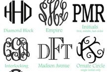 Monogrammed for fun! / by Kristy Drake