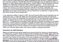 Important from ASHA / American Speech Language and Hearing Association