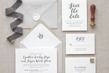 Wedding invitations + stationery