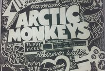 Arctic Monkeys / Contains pictures of song lyrics, the band logo, and may contain pictures of frontman Alex Turner.
