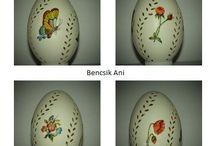 Minden ami tojás. / Saját alkotásaim, és mások munkái. Csipkézett, írott, festett, textil, kerámia, tojások