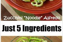 Veggie noodle dishes