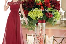 Red & Cranberry Bridesmaid Dresses
