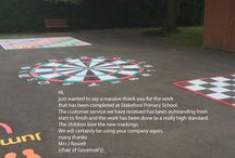 Playground Marking Installations by first4playgrounds