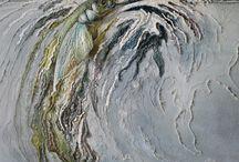 kleurpotlode en waterverf
