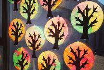 Herbst / Fensterbild