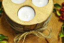 Candle Holders-Rustic