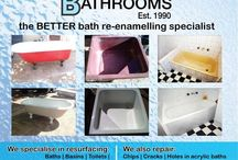 Beta Bathrooms - Don't Replace Resurface. / We strongly believe in resurfacing a product rather than replacing.  We resurface baths in Cape Town - South African with a very durable coating.  The coating is a poly-urethane coating used on some yacht basins and will last years.  We have a client we did a full resurfacing job (Baths, basins, tiles, toilets, shower bases) about 11 years ago and it's still going very strong and looks brand new.  Reference checks available.  Testimonials available.  Check out our website on www.betabaths.co.za