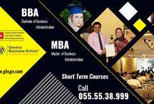 GENEVA BUSINESS SCHOOL, BBA, MBA, Ph.D(Poland)