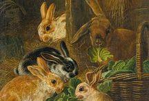 Bunny Love / Bunny rabbit art, paintings, photographs , sculptures, pillows, stuffed animals, bunny dolls, needle felted bunnies, bunny books
