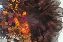 Brown Thanksgiving Wreath