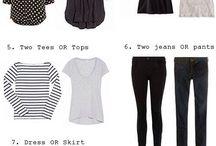 capsule/ travel wardrobe