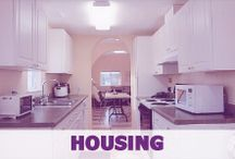 Housing in Portland / We have an large apartment building conveniently located behind our school.