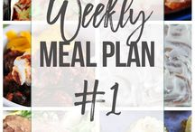 Meal Planning / Sharing weekly meal plans and meal planning tips!