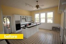Kitchen Transformations  / These are the before photos, click through to the link to see the amazing transformations! *swoon*