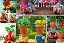 vasos de plantas divertidos