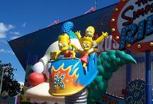 Parque do Simpsons / Parque temático dos Simpsons no Universal Studios
