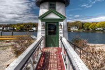 New England Lighthouses / Functional beauty of lighthouses around the northeast  / by Mystic Seaport
